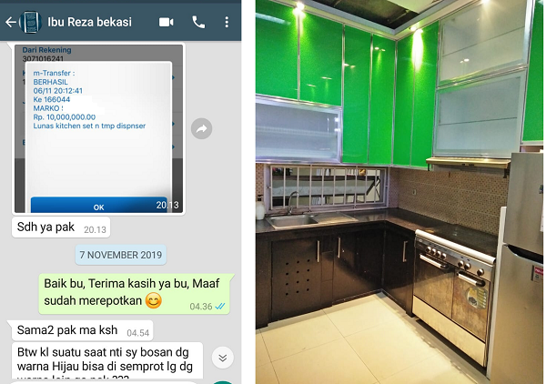 Harga Kitchen Set Aluminium Per Meter 2021 Model Minmalis Luxury