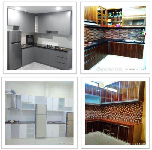 harga kitchen set per meter terbaru  lengkap  transparan